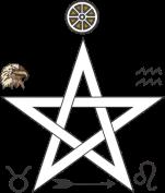 Pentagrama terra fogo